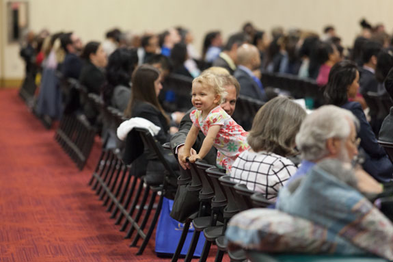 Many in the audience were children attending their first swearing-in celebration.  <em>Photo by S. Todd Rogers</em>