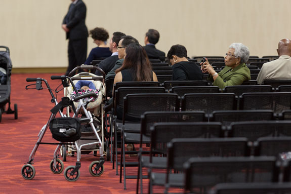 The audience members included the very young and the elderly.  <em>Photo by S. Todd Rogers</em>