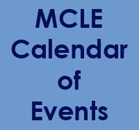 MCLE Calendar of Events Section Program